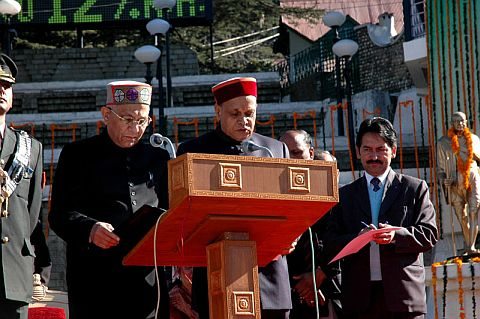 Oath Taking ceremony by Prem Kumar Dhumal As Chief Minister