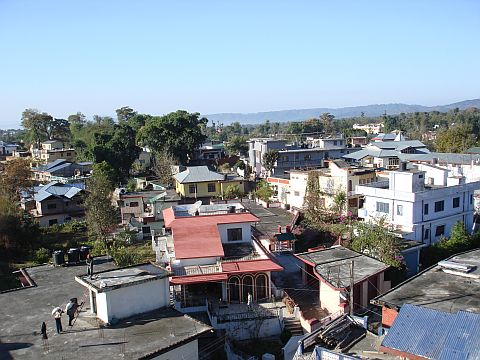 unplanned and hapzard construction of houses and other building at Palampur