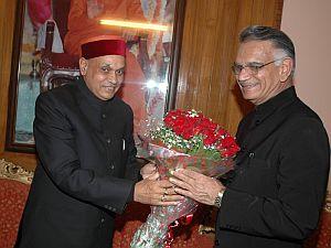Dhumal with Shiv Raj Patil