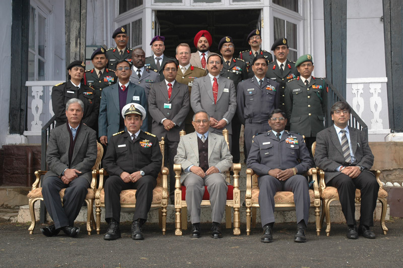 V.S. Kokje in a group photo with the army officers