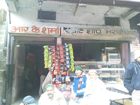 r.k.sharma sweet shop in bhararighat, himachal