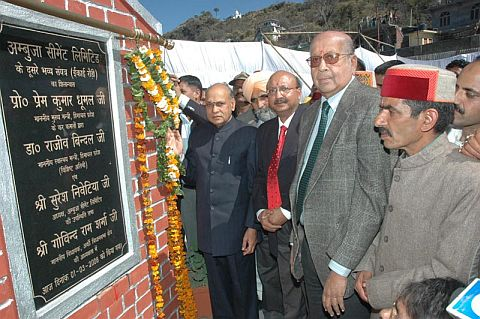 Foundation stone of 2nd Ambuja Cement laid in Himachal