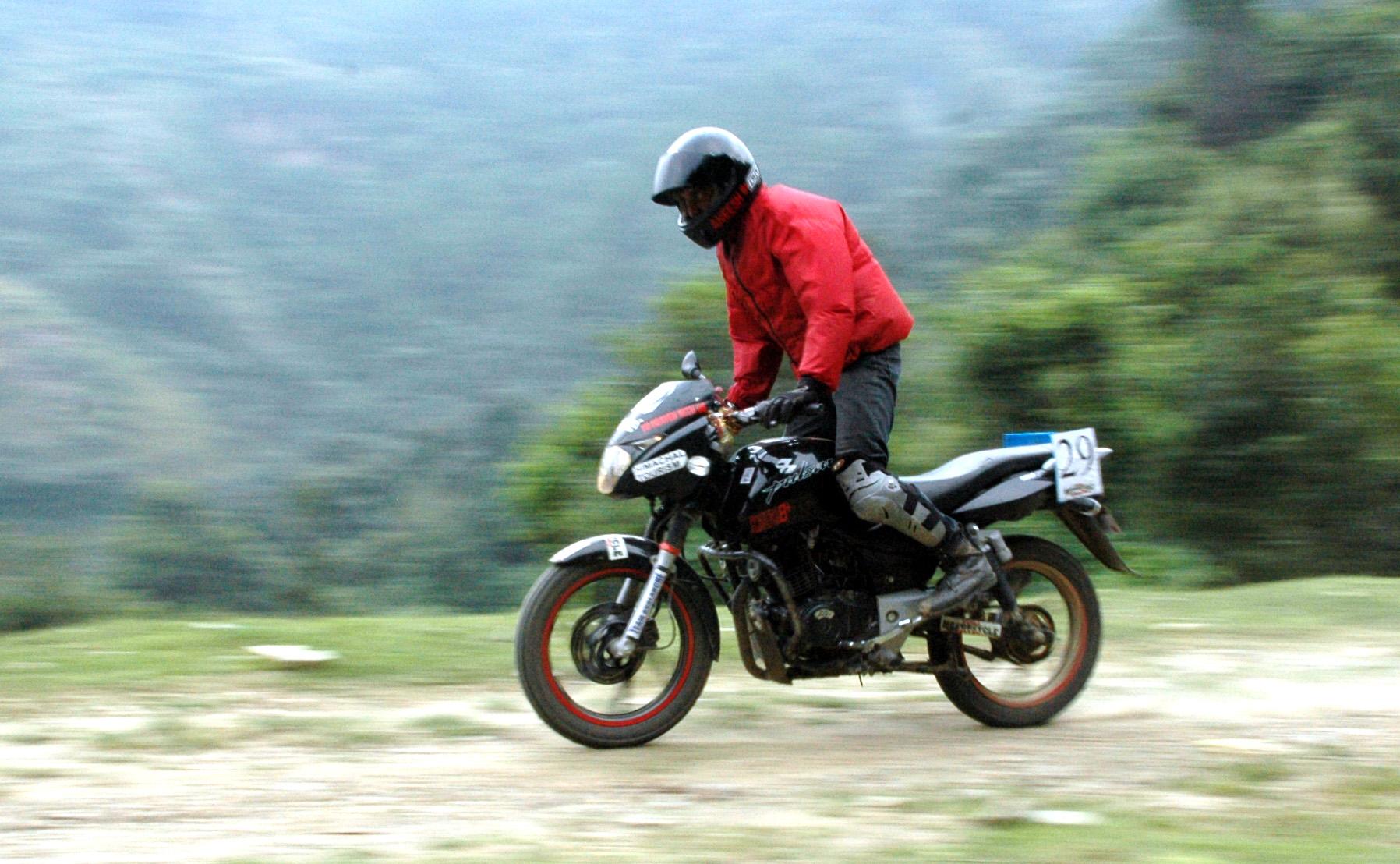 Biker At Shimla Motorcycle Challenge