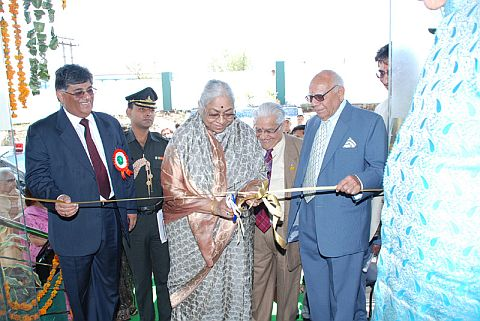 the Governor, H.P. Smt. Prabha Rau inaugurating the factory of Weikfield Foods Pvt. Ltd. at Nalagarh in Distt. Solan
