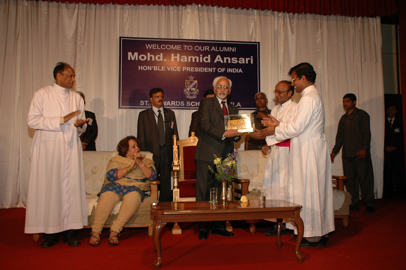 Ansari at St. Edwards School, Shimla