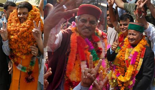 anurag, virender kashyap, virbhadra singh