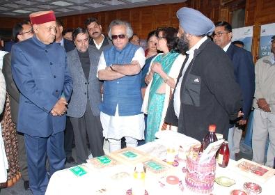 Jairam Ramesh & PK Dhumal at conclave exhition
