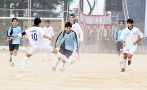 Soccer match between BCS Shimla and Aitchison College, Lahore