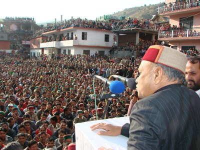 After registering a BJP first win in Rohru, CM addressing the victory celebrations