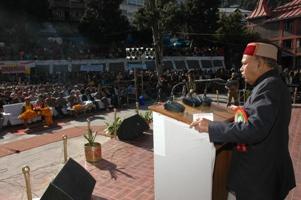 Chief minister Dhumal at Reckong Peo_2_11_2009