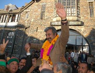 A Jubliant Harish Janartha on being re-elected Deputy Mayor