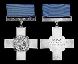Gorge Cross Medal of Naik Kirpa Ram