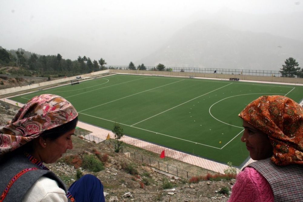 One of Asia''s Highest Astroturf Hockey ground ( 2450 meters from sea level) at Netaji Subhash high altitude training center at Shilaroo 65 Kms from Shimla