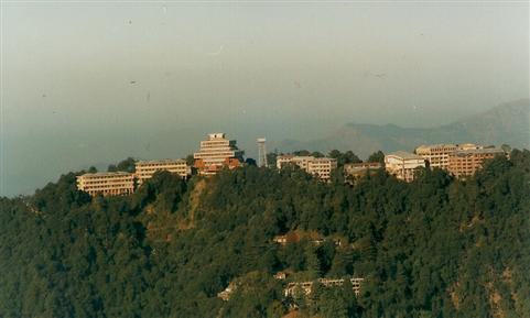 40 years of HPU - Rear View of HPU Campus Summer Hill Shimla
