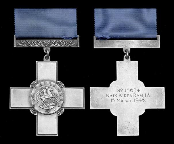 Nk Kirpa Ram Georgre Cross Medal
