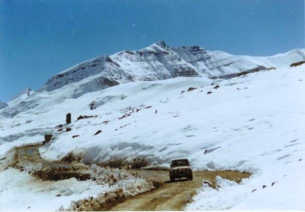 Hills overlooking Manali get snow
