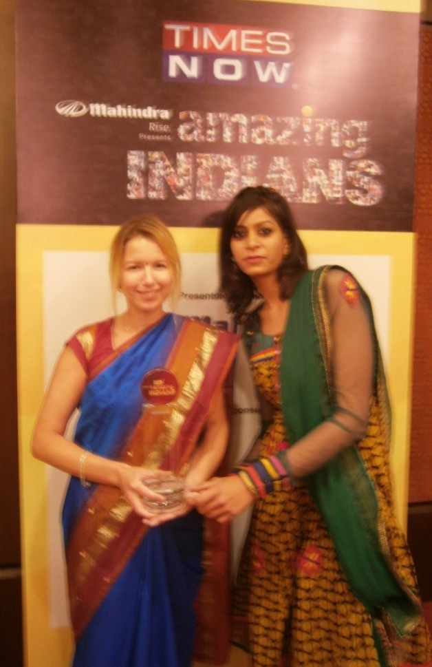 Jodie and New Project Manager Tashi Pareek At Award Ceremony