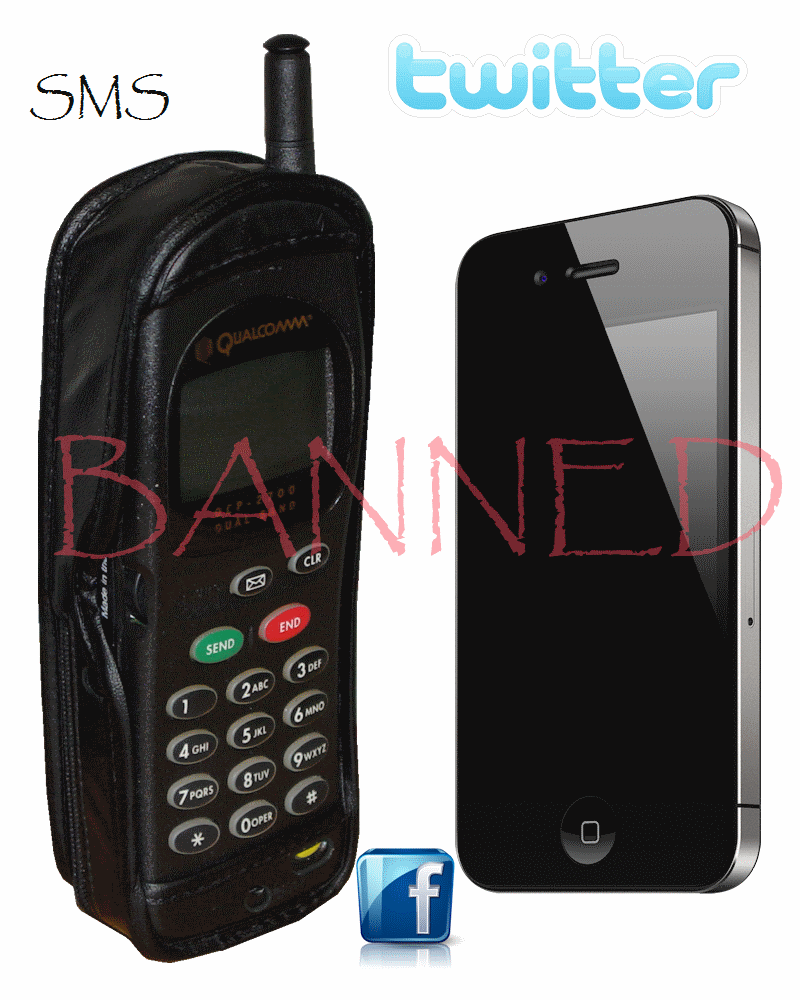 Cell Phone SMS Scoial networking Ban