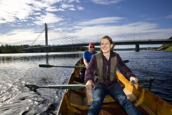 Exciting river boat safaris, a popular summer activity.- Photo courtesy visitrovaniemi.fi