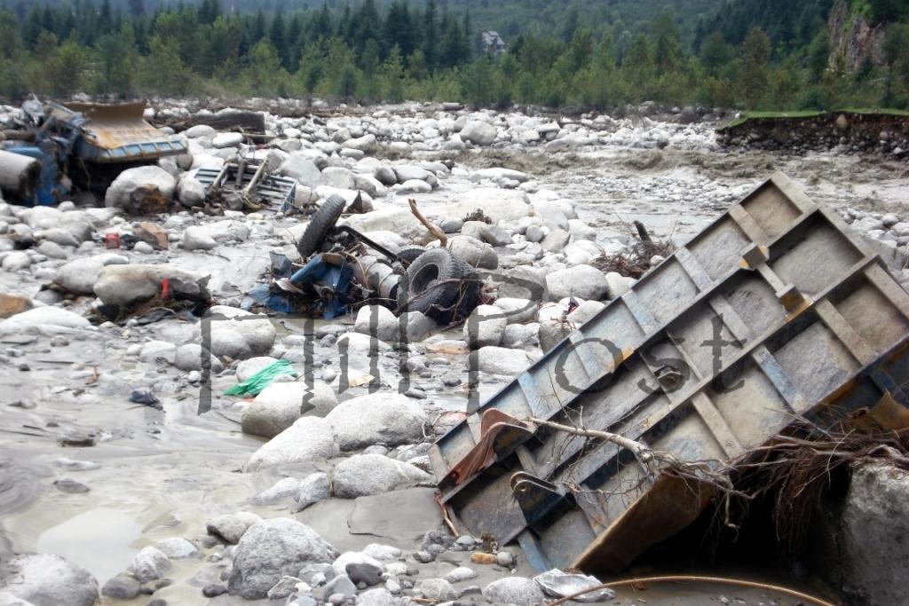 Manali Cloud Burst Property Damage