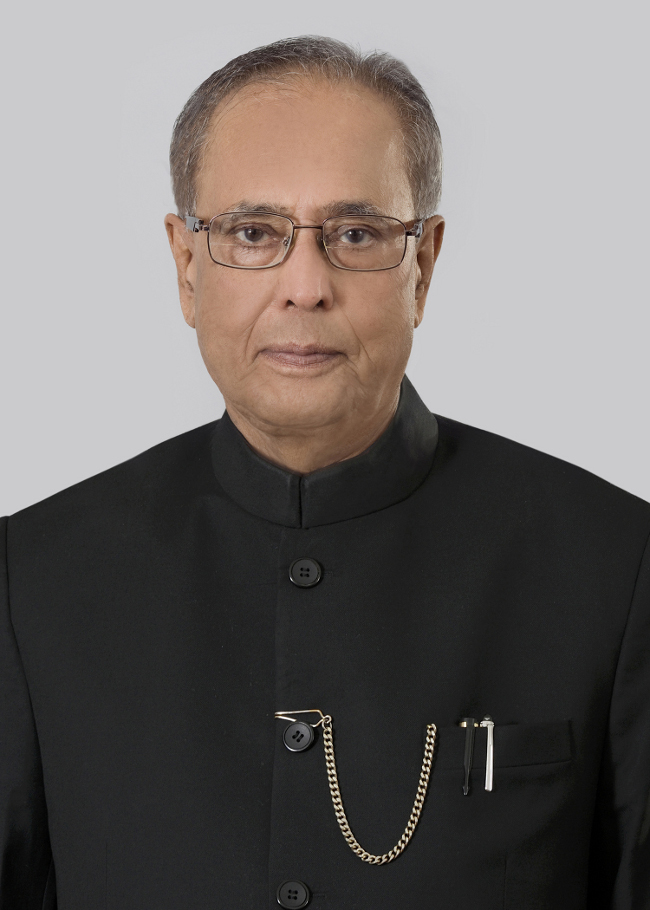 The portrait of the President of India, Shri Pranab Mukherjee.