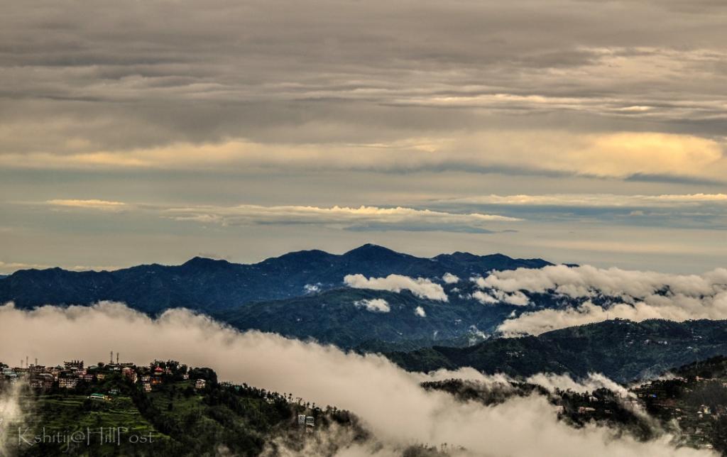 Shimla City View from IIAS Shimla On A Rainy Day