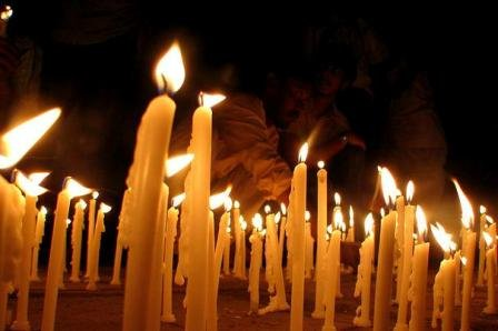 Candle March Kashmir