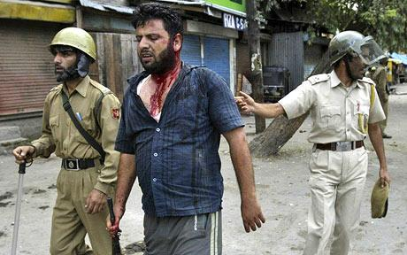 Kashmir Protests_Policeman Kidnapped