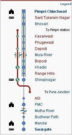 Pune Metro Route