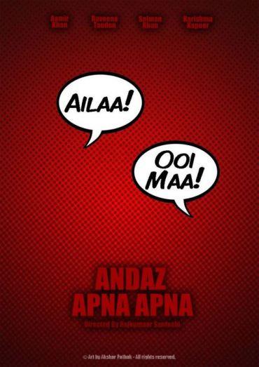 Andaj Apna Apna_Minimal_Bollywood_Posters