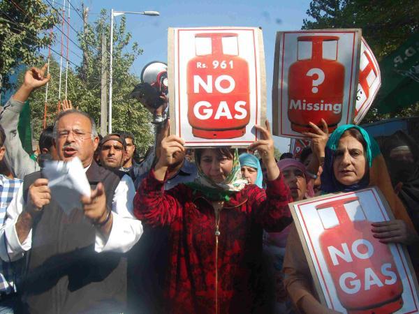 LPG Crisis Srinagar