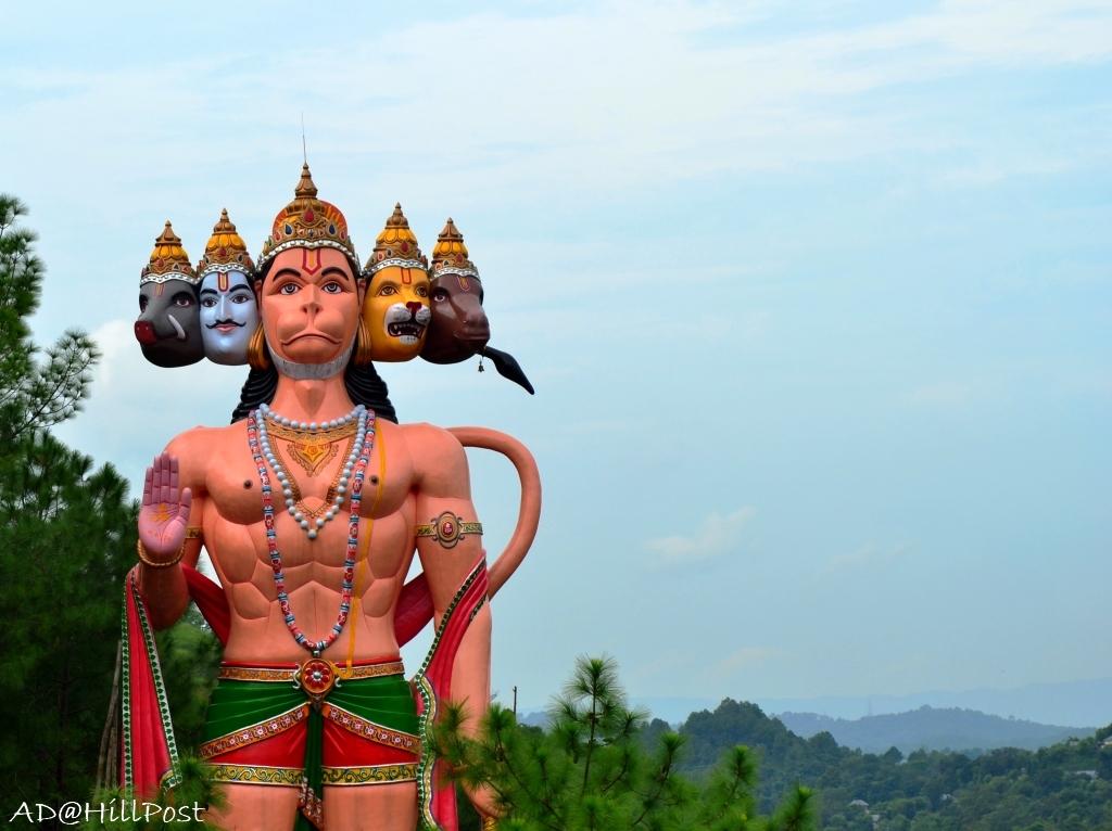 Panchmukhi Hanuman at Shani dev mandir Lamblu