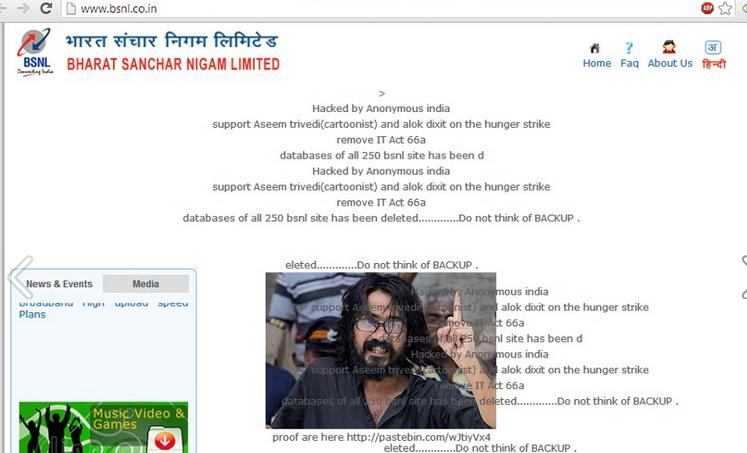 Anonymous India Hacks BSNL