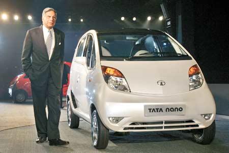 Ratan Tata with Nano Car
