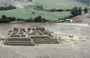 A temple was discovered in the El Paraiso archaeological complex may date to 3000 B.C. Photograph: Peruvian Ministry of Culture