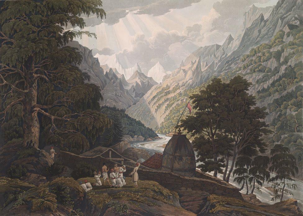Gangotri, the holy shrine of Mahadeo by James Baillie Fraser