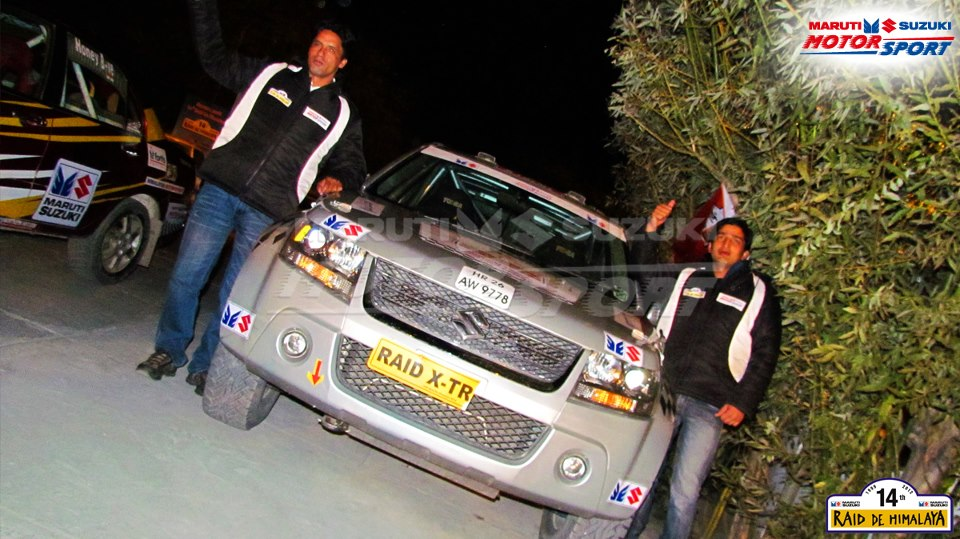Suresh Rana and Parminder Thakur in X-Treme Category at Desert Storm Rally in Rajasthan