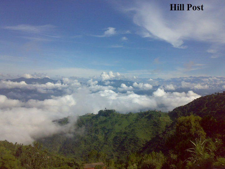Clouds over the Balh Valley in district Mandi, Himachal Pradesh