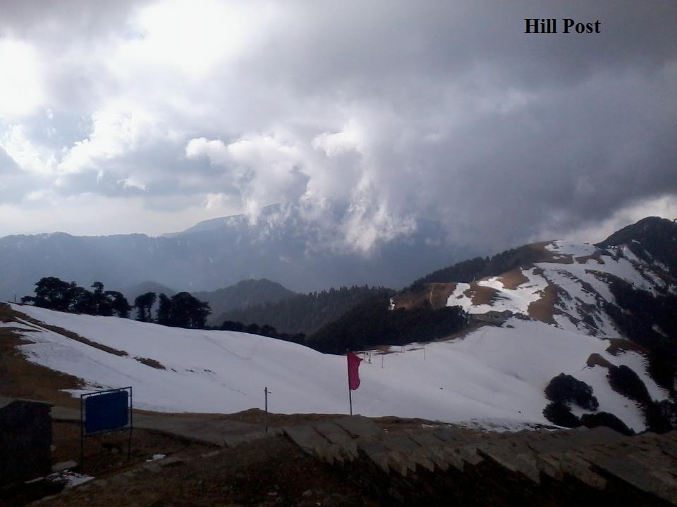 Shikari Devi Wild Life Sanctuary after snowfall in Mandi, Himachal Pradesh