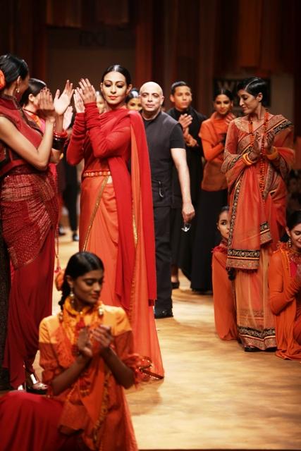 Designer Tarun Tahiliani's collection for Wills Lifestyle India Fashion Week
