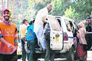 HRTC Taxi in Shimla city primarily for senior citizens and kids