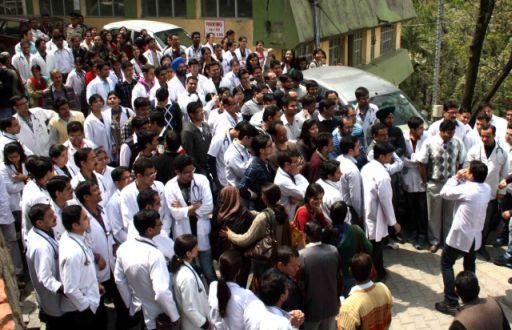 IGMC resident doctors strike work - Photo by Amit