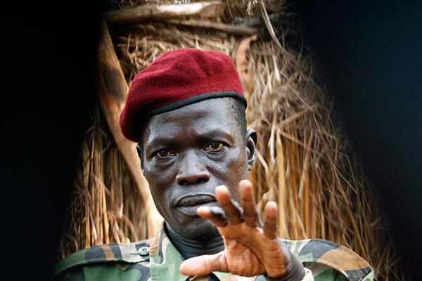 Joseph Kony, head of Uganda's Lord's Resistance Army (LRA) rebel outfit