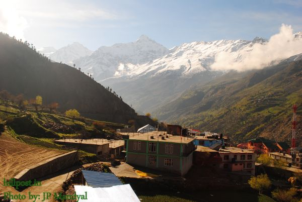 Near Keylong Town in Lahaul Valley, Himachal Pradesh