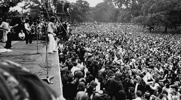 Rolling Stones at Hyde Park in 1969