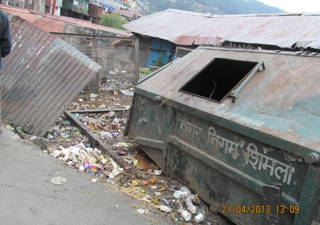 Old Bus Stand, a garbage dump
