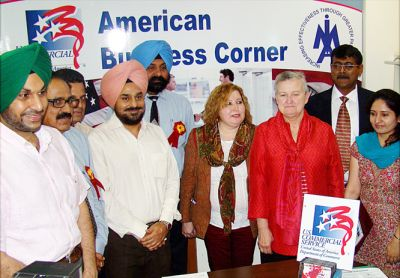 12th American Business Corner set up