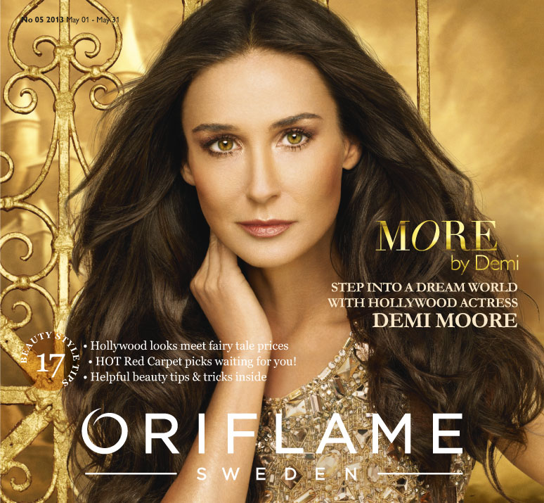 Oriflame celebrates 45 years with 'Demi Moore' range