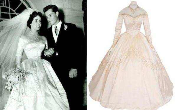 Elizabeth Taylor's wedding gown to be auctioned