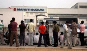 Sit-in in support of sacked Maruti workers